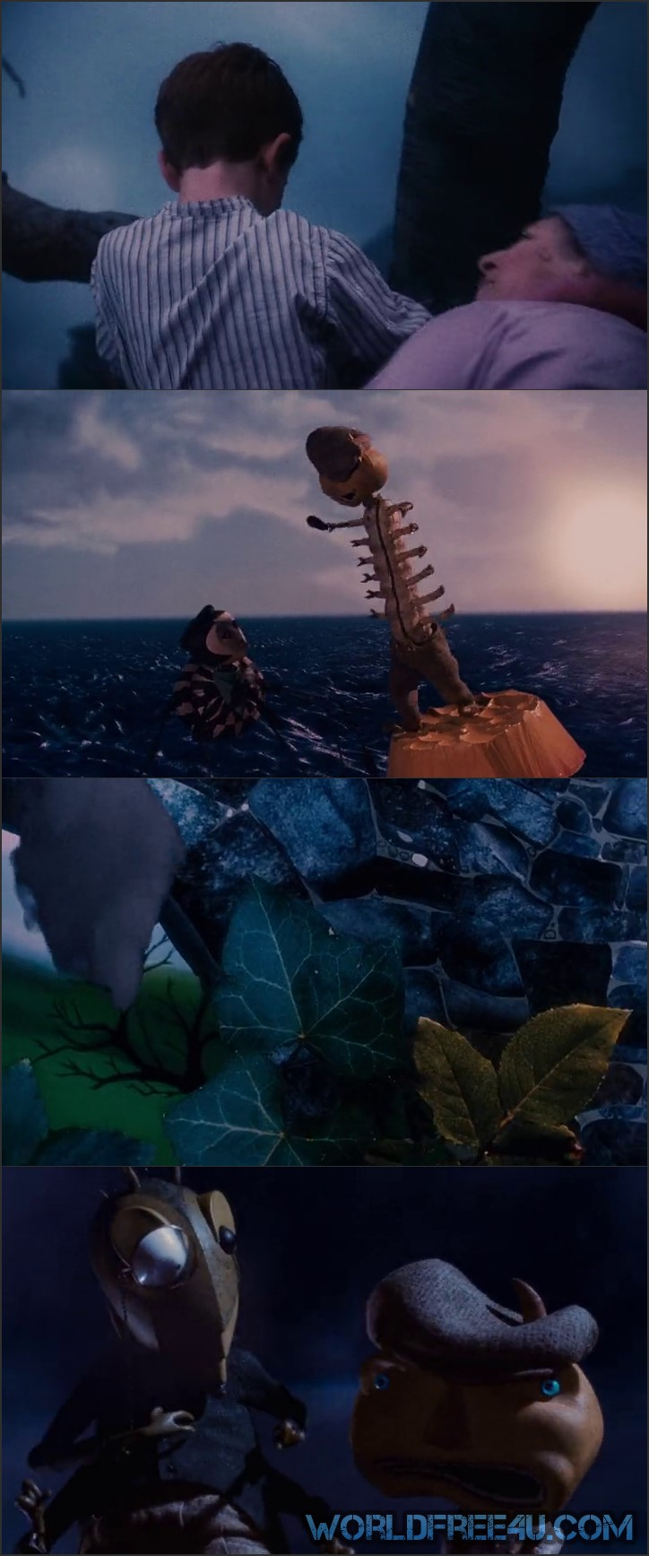 Screen Shot Of James And The Giant Peach 1996 In Hindi English Dual Audio Bluray