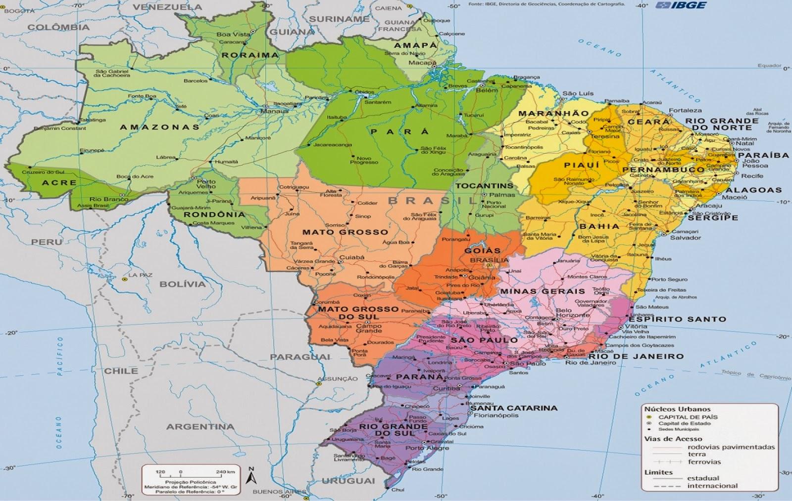 Folha Granjense Online IBGE lana mapa poltico atualizado do Brasil