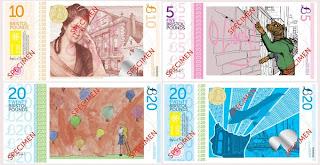GAMBAR menunjukkan beberapa mata wang kertas Bristol Pound yang digunakan di Bristol.