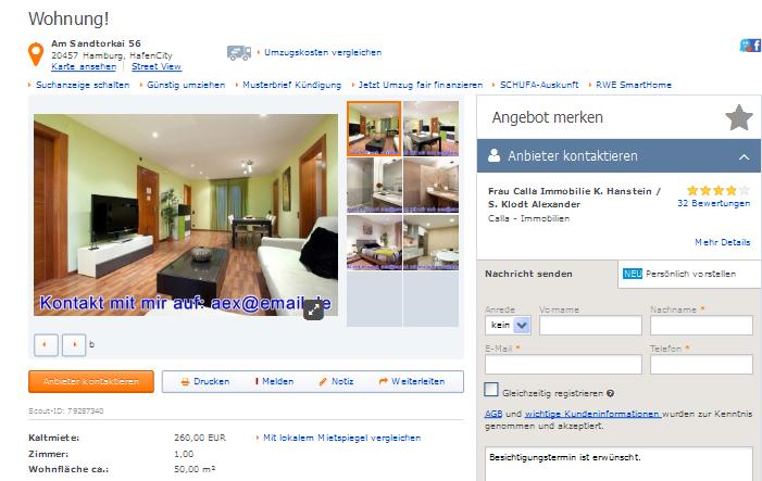 vorkassebetr ger mit tel 015237226788 calla immobilien t. Black Bedroom Furniture Sets. Home Design Ideas