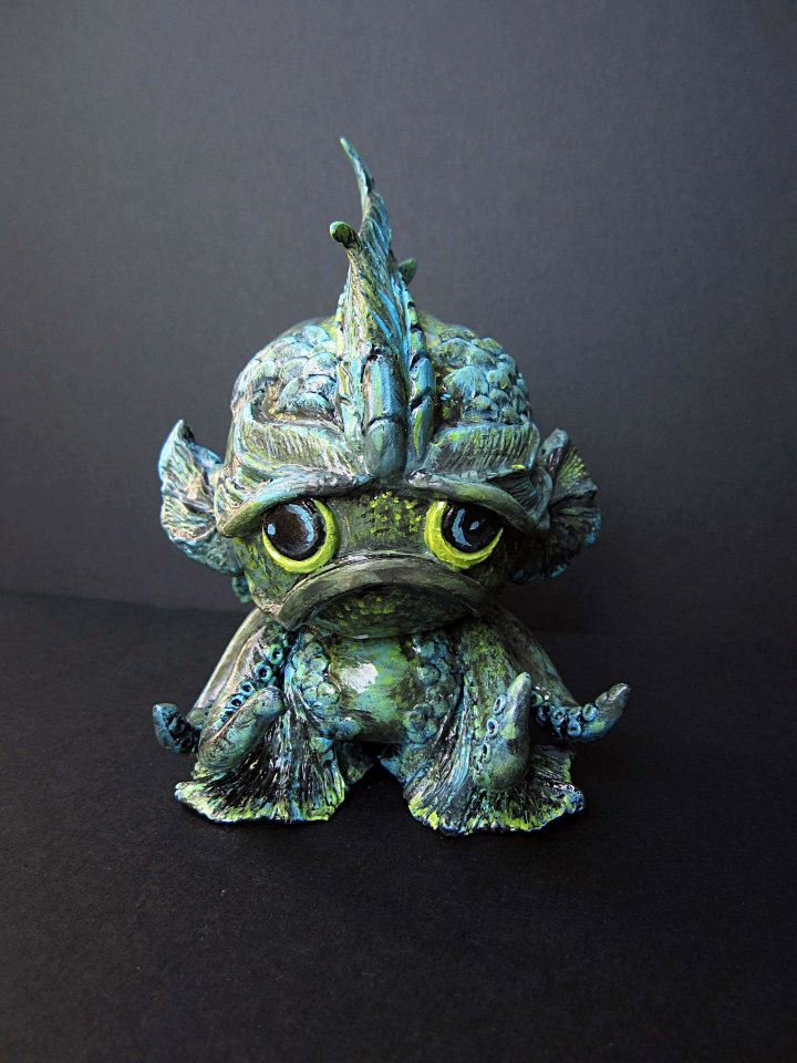 Foomi MunnyWorld vinyl form made into sea creature custom.