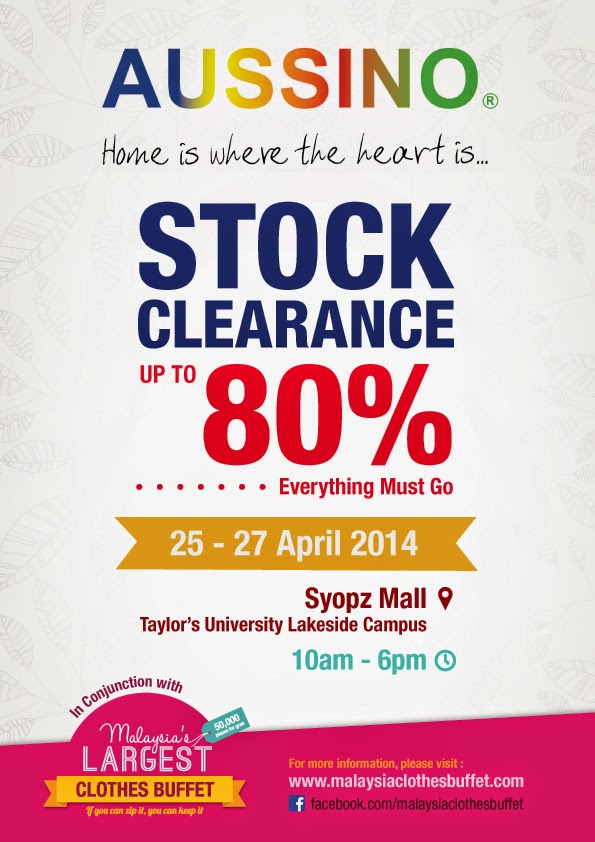 Aussino Stock Clearance Up To 80% Off @ Taylor's University Lakeside Campus