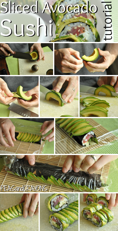 Avocado Topped Sushi Roll Tutorial