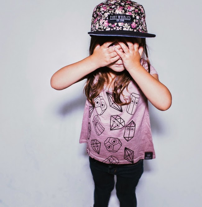 "Tiny Whales: kids tee ""MISHAPES, MAUVE"""