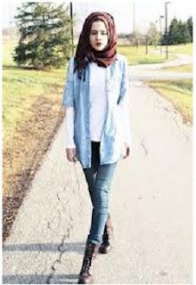 Kemeja lengan pendek hijab