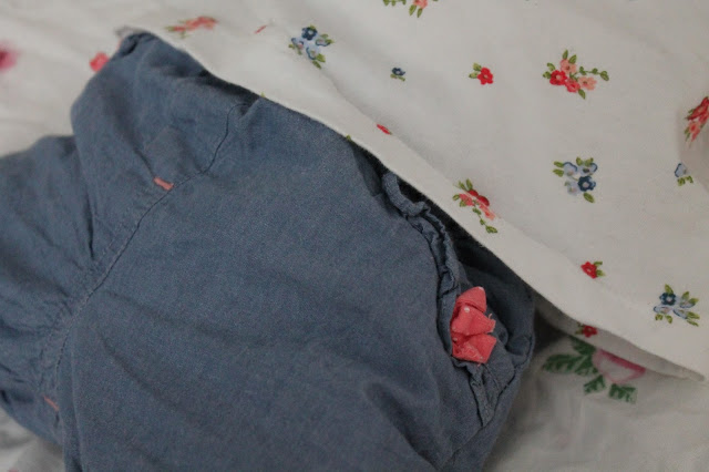 baby girl jeans and floral top set from Matalan