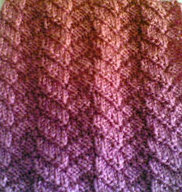 Knitting Stitch Patterns Mock Cable : Knitting Galore: Saturday Stitch: Mock Cable Stitch.