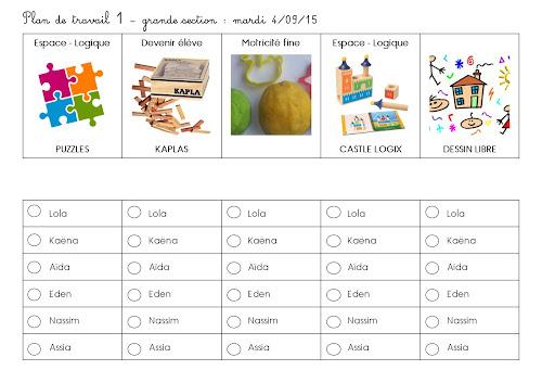 Plan de travail en grande section maternelle -période 1