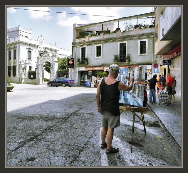 CALDES DE MALAVELLA-BALNEARIS-PINTURA-PRATS-GIRONA-CATALUNYA-FOTOS-PINTOR-ERNEST DESCALS-