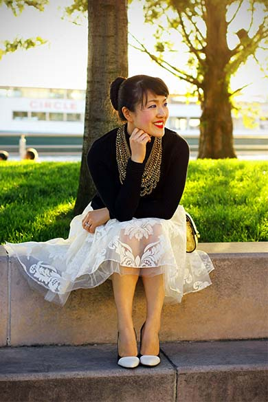 Anthropologie Full Syn Emb White Tulle Skirt