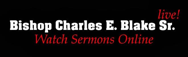 Bishop Charles E. Blake Live!