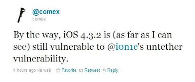Untethered Jailbreak unter iOS 4.3.2?