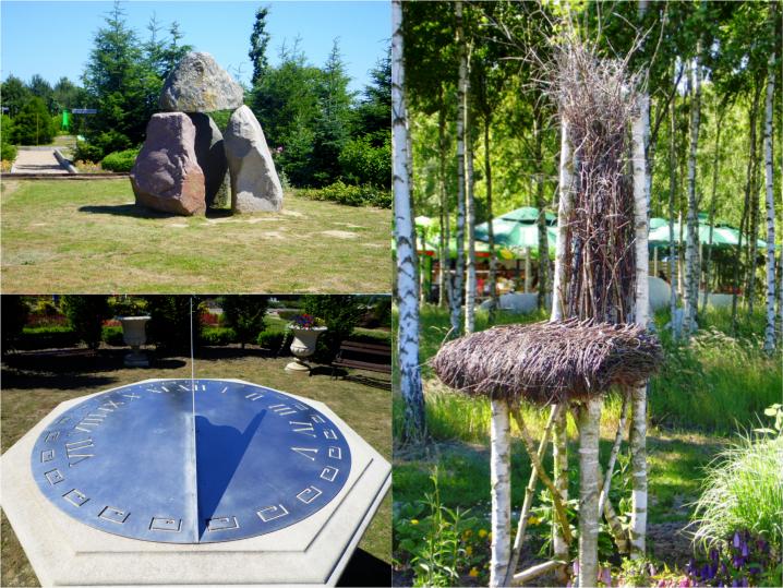 Dolmen Anastazji, Zegar słoneczny, Krzesło z brzozy w Dobrzycy
