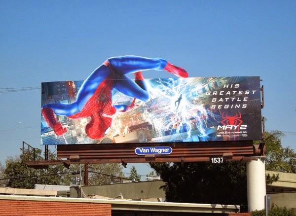 Amazing Spider-man vs Electro movie billboard