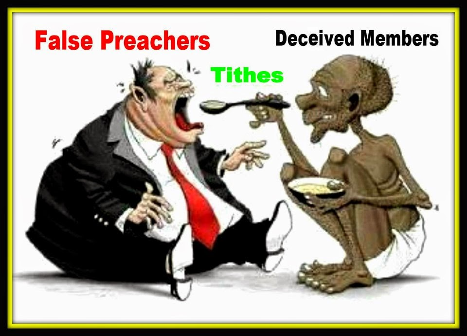 A fat NTCC Preacher is Spoon-fed Tithe by a Starving NTCC Member.