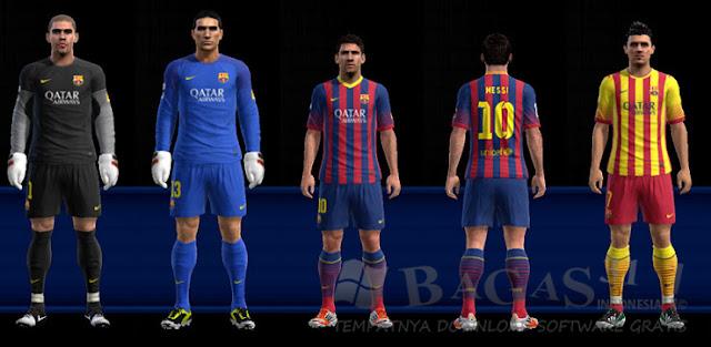 Barcelona 13 - 14 Kit Set PES 2013