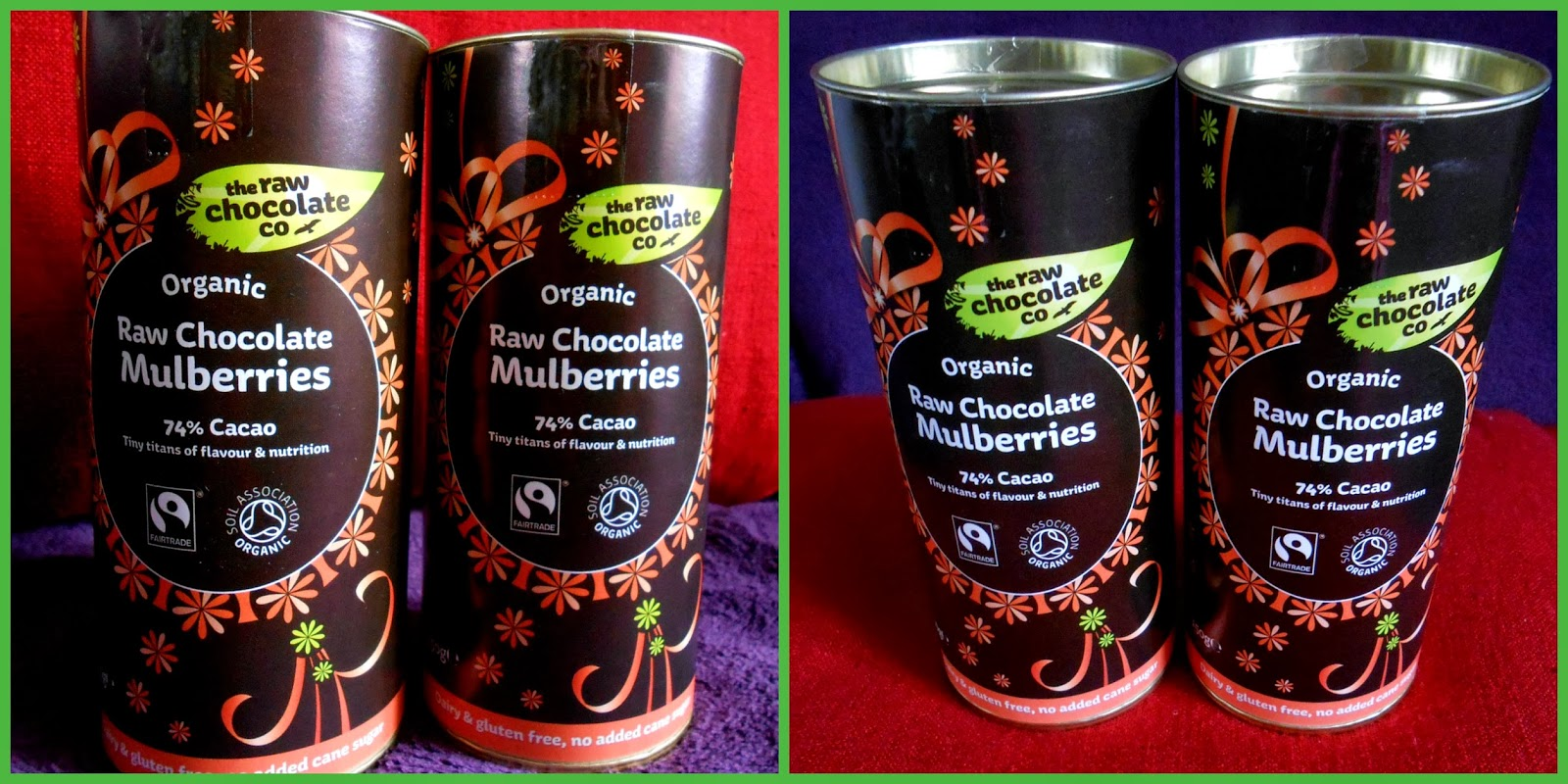 Organic Raw Chocolate Mulberries - Gift Pack - Perfect For Christmas - The Raw Chocolate Company