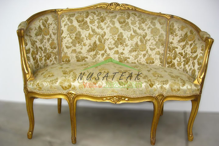 Indra Antique Gold Leaf Sofa