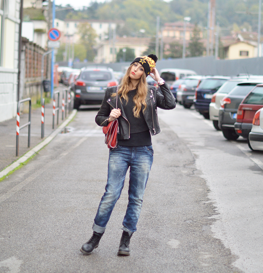 New Era, New Era Cap, Beanie, Italian Fashion Blogger, Fashion Blogger, top fashion blogger, outfit beanie, beanie fashion blogger, leather jacket, H&M The New Icons Collection, Dior MakeUp, Dior Le Rouge