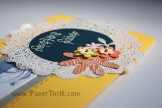 Summer flower handmade birthday card