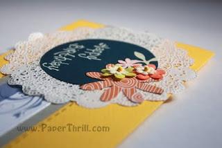 Summer flower handmade birthday card