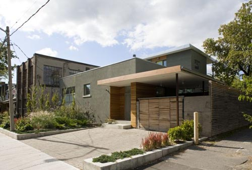 Simple modern design house et au canada toronto modern for Modern home plans canada