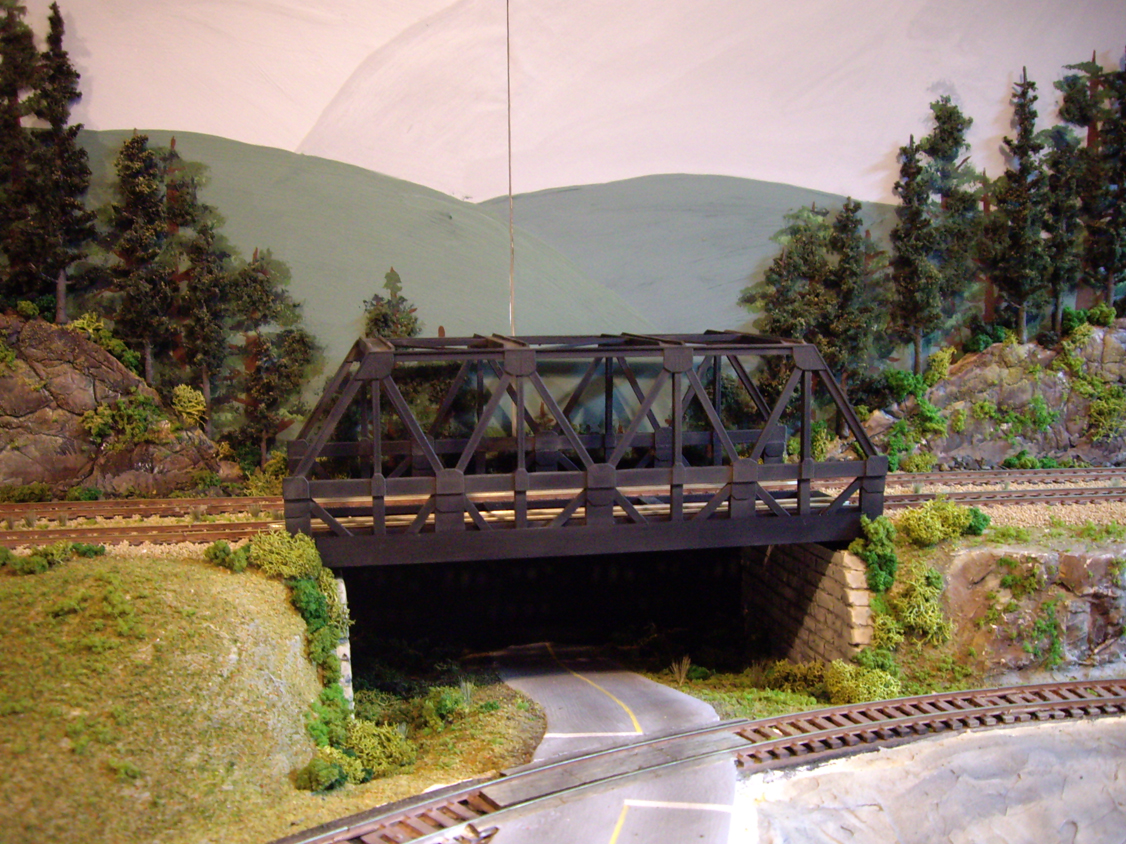 Tys Model Railroad Layout Scenery Part Ii The Background Warren Truss Bridge Diagram First Was Probably A And Vegetation Under Construction Upgraded Train