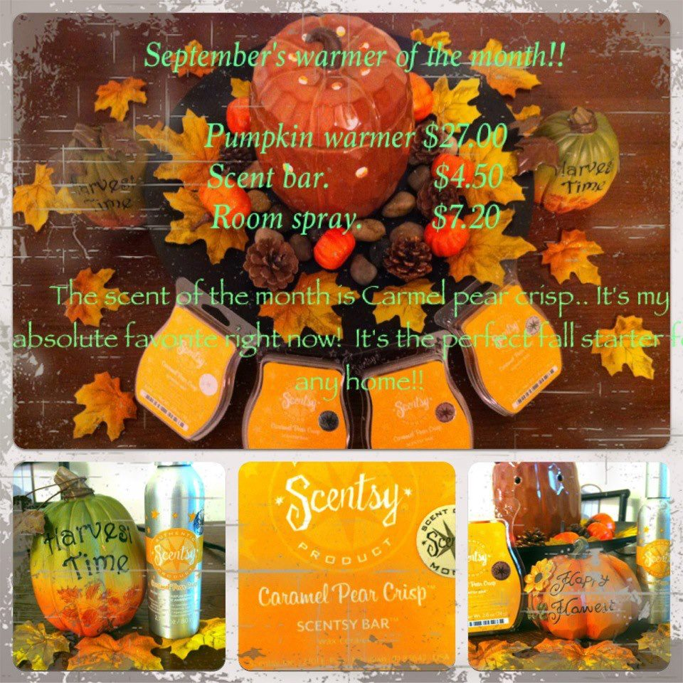 of the month {CARAMEL PEAR CRISP} AND the warmer of the month {PUMPKIN ...