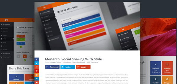 Monarch WordPress Social Media Sharing Plugin