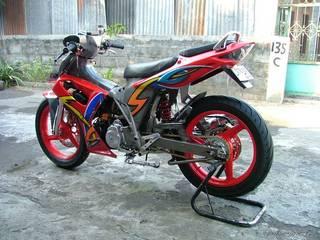 motorcycle modifications suzuki shogun