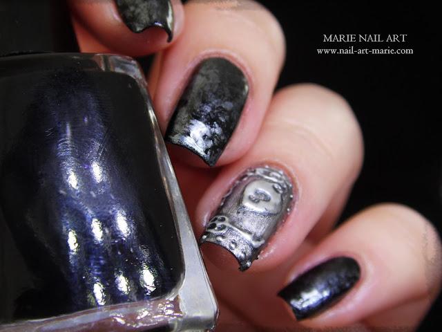 Nail Art effet Métal Ancien en 3D2