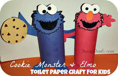 cookie monster elmo toilet paper roll craft