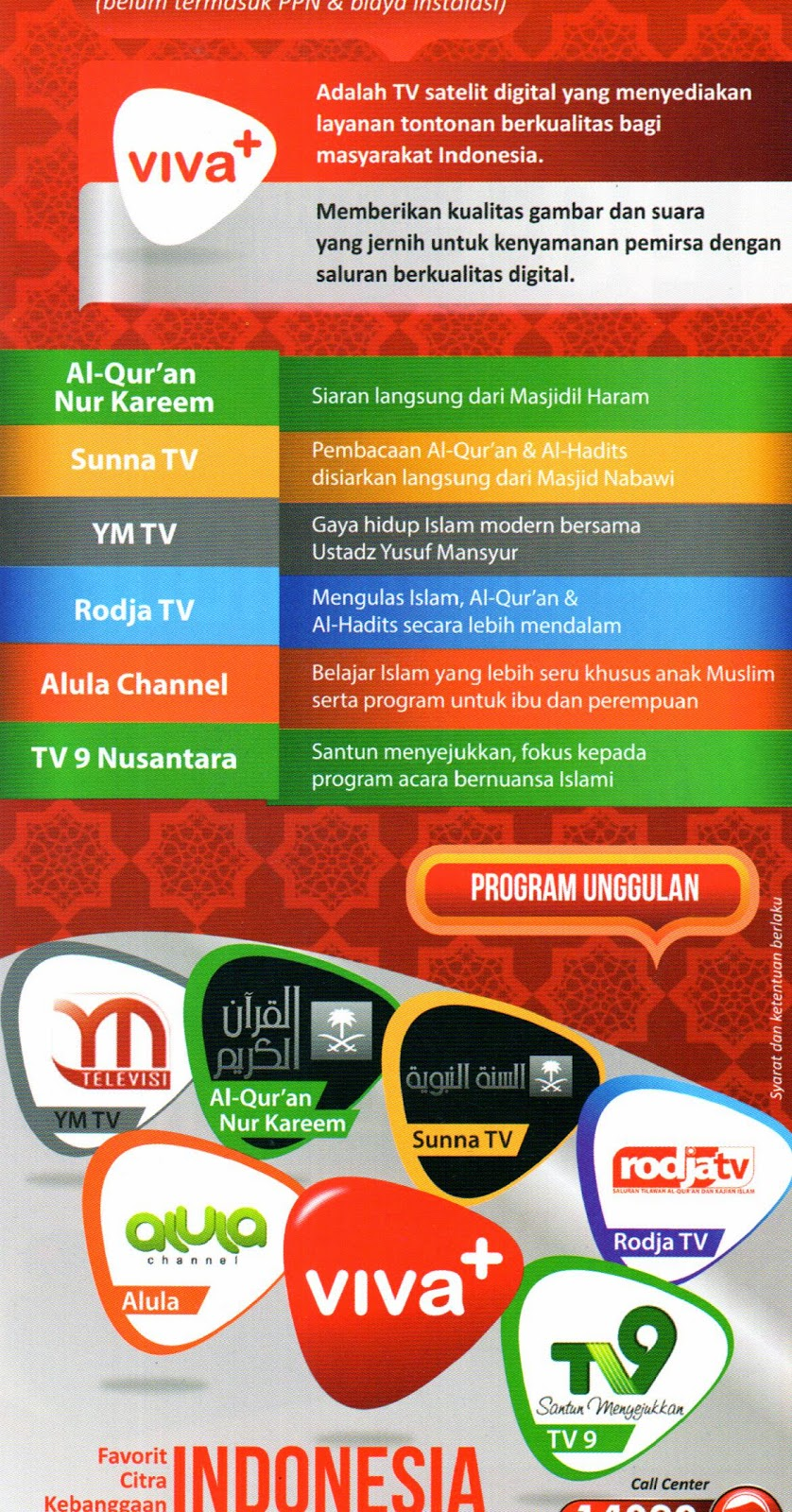 channel tv unggulan viva + plus
