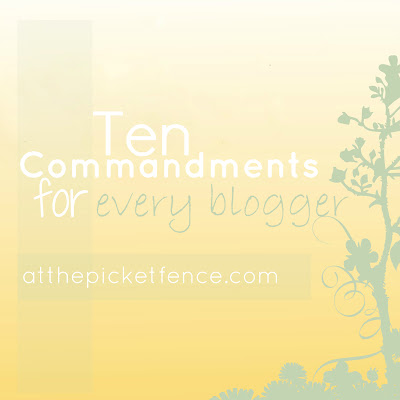 blogging, commandments, how to blog, bloggers, 10 commandments