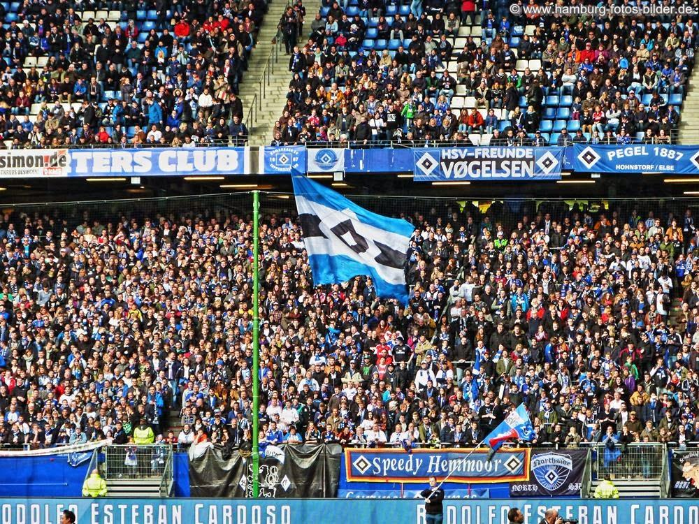 HSV Fans - Nordkurve im Volksparkstadion