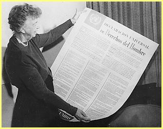 Eleanor Roosevelt fue una de las personas involucradas en la redacción de la DUDH
