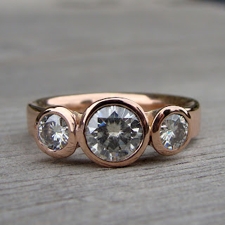 moissanite rose gold ring