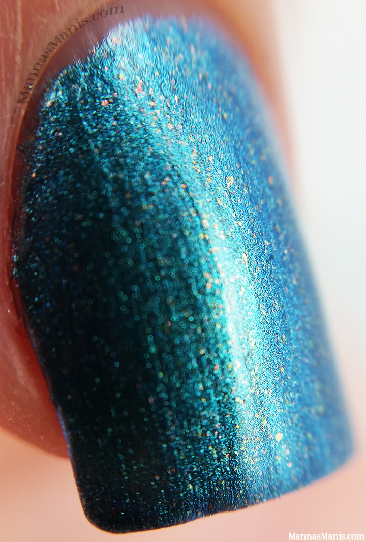 OPI Hawaii This Color's Making Waves, green blue shimmer nail polish