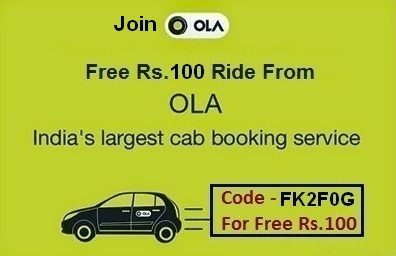 Free Rs. 100 ride for Ola