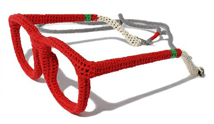 Ewe Year Glasses: pure new wool and perfect stitches. Miraco's Miracle Megane knitted frames