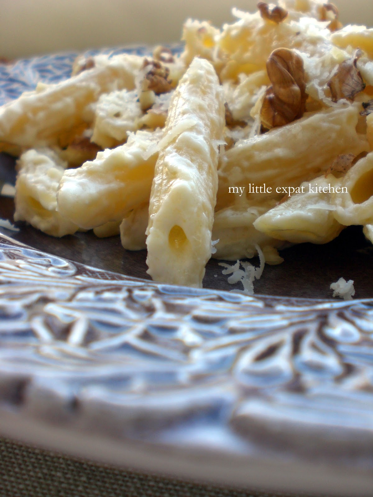 Penne with Mascarpone, Walnuts and Parmesan