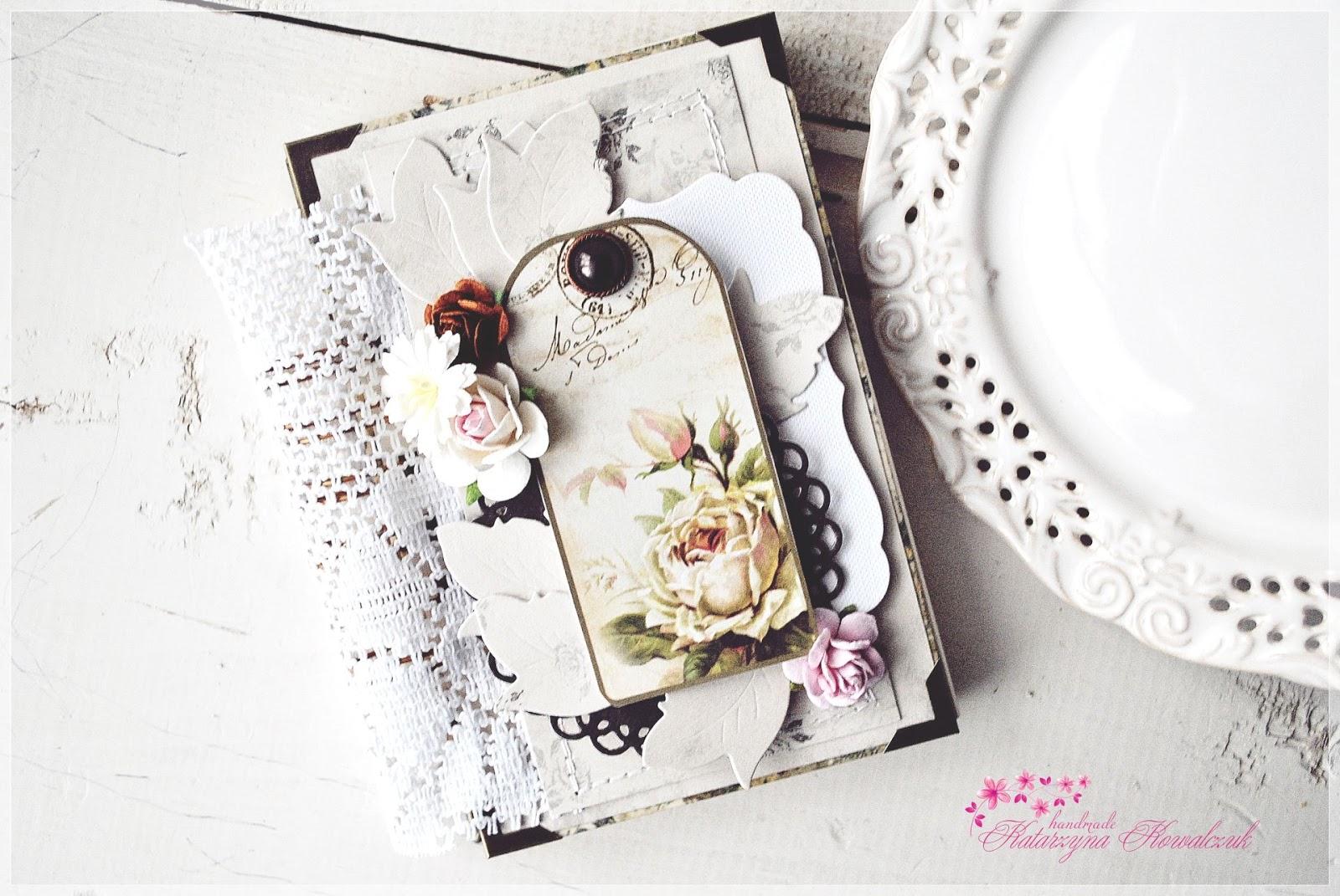 pamiętnik, notatnik vintage scrapbooking