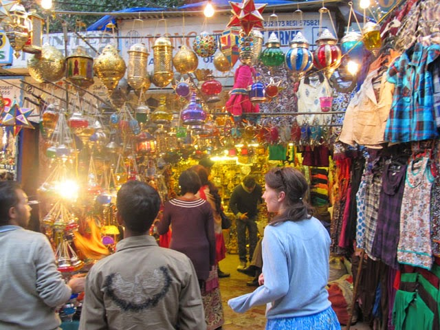 Janpath Market in Cannaught Place, Delhi