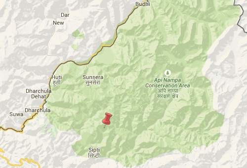 darchula nepal earthquake epicenter map