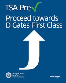 TSA Precheck sign.