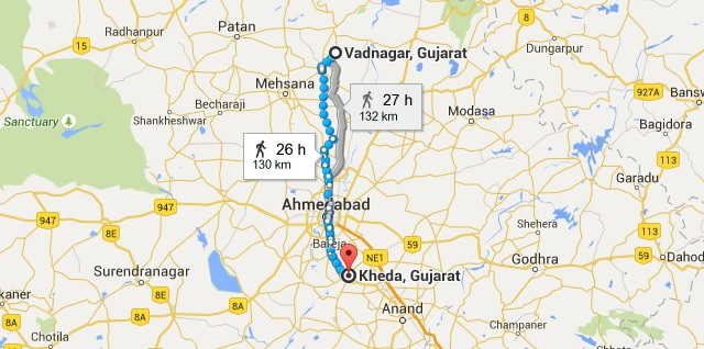Migration of Brahmins as per Dharasena II Charter Vadnagar to Kheda