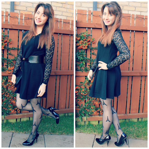 Blue Vanilla Black Lace Party Dress Review