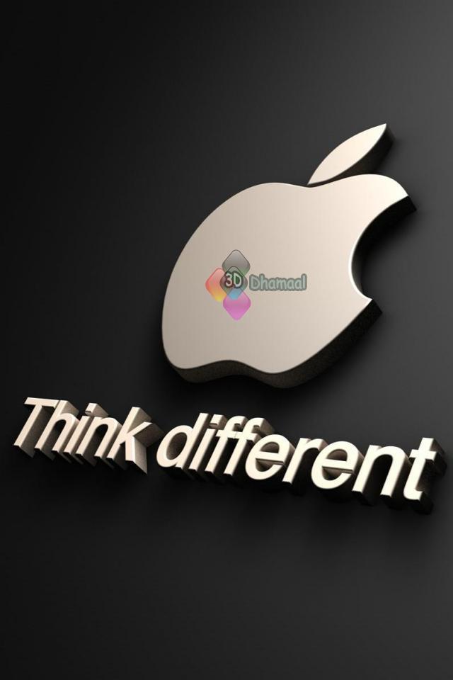 3d Wallpaper Hd Apple Think Different Iphone Wallpaper Hd