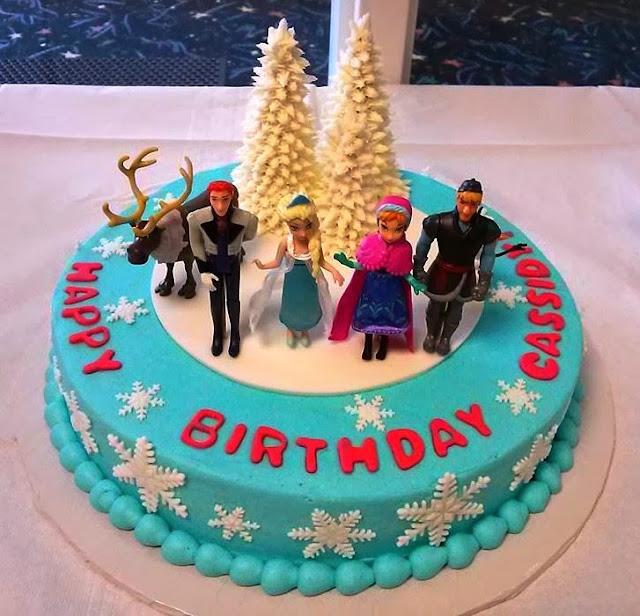 frozen cakes birthday