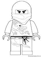 Gambar Mewarnai Ninjago Ninja Lego